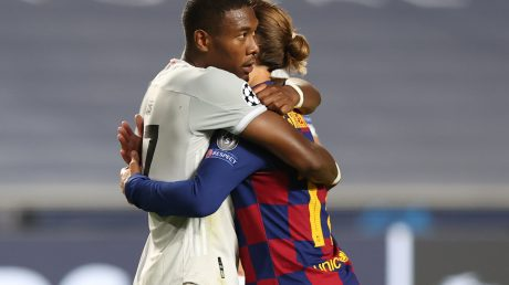 Alaba will wohl auch mit Barcelona reden. Foto: RAFAEL MARCHANTE/POOL/AFP via Getty Images