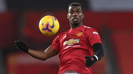 Pogba steht bei ManUnited bis 2022 unter Vertrag. Foto: LAURENCE GRIFFITHS/POOL/AFP via Getty Images
